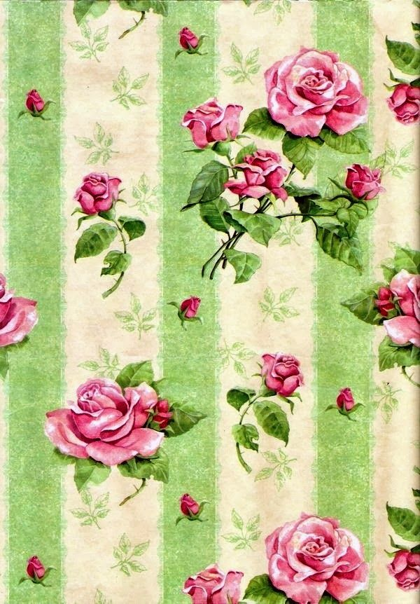 PAPIROLAS COLORIDAS: Vintage Roses Background Paper.