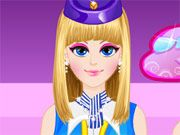 Free Online Girl Games, Help pamper this flight attendant before her next exhausting trip by giving her a complete makeover!  In Flight Attendant Makeover, you must first clear your skin and then apply tons of different lotions and makeup!  Once you are done taking care of her skin, you get to find a cute outfit for her to wear on her next flight!, #flight #attendant #makeover #dressup #dress #gil