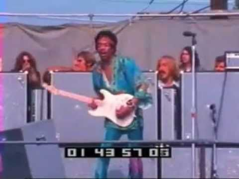 """Jimi Hendrix with Band of Gypsies.  Amazing extended guitar solo on """"Stone Free"""".  Good quality Audio Jan 1, 1970 : Billy Cox on Bass, Buddy Miles on Drums. Video synched in is from 1969 Newport Jazz Festival."""
