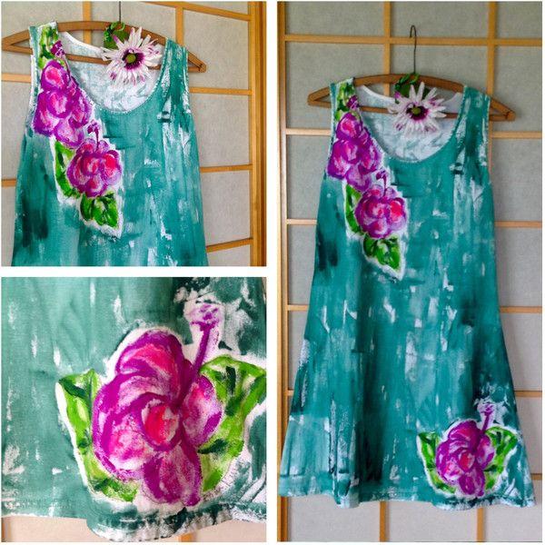 Cotton Sun Dress Plus Size Dress Beach Resort Wear Hawaiian Dress Hand... ($65) ❤ liked on Polyvore featuring dresses, black, women's clothing, a line dress, beach dresses, plus size sundresses, plus size cotton sundresses and plus size dresses