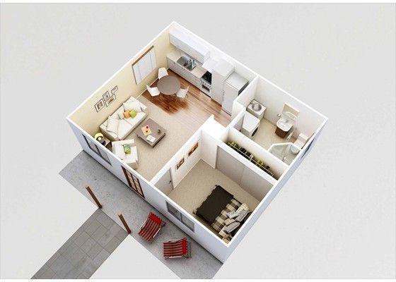 Granny flat floor plan designs pinteres for Granny flat above garage plans