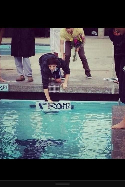 I love this. A swimmer way asking someone to prom.