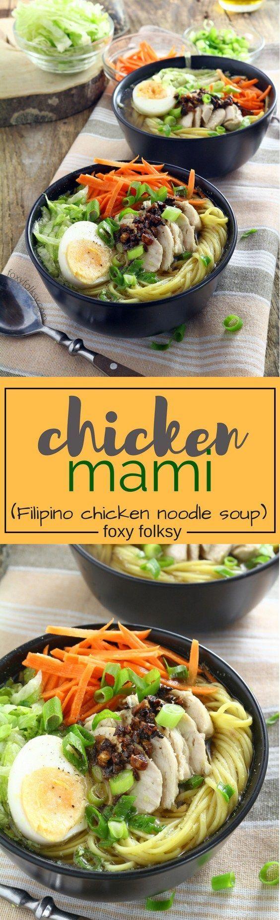 Filipino Chicken Mami   Foxy Folksy