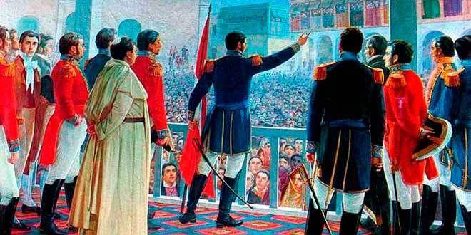 José de San Martín como Simón Bolívar aportaron cada uno con características especificas para la organización militar que nuestra dispersa gesta emancipadora
