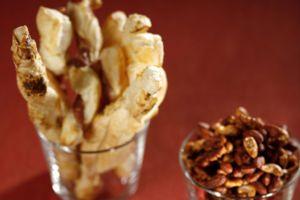 Paahdetut mantelit ja pähkinät