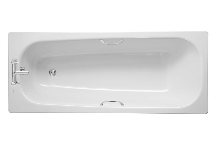 Cooke & Lewis Barbican Steel Straight Bath (L)1700mm (W)700mm | Departments | DIY at B&Q