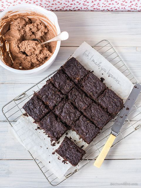 Ooey Gooey Gluten-Free Brownies - Fruit and veggie pulp makes these brownies incredibly gooey and rich, while a couple eggs and a touch of coconut flour just hold them together. Has there ever been a better way to use up the pulp from a juicer?