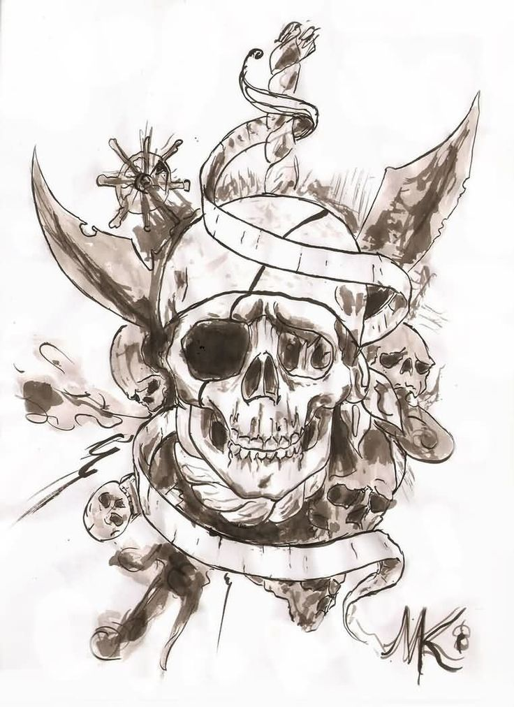 Pirate Tattoos, Designs And Ideas : Page 3