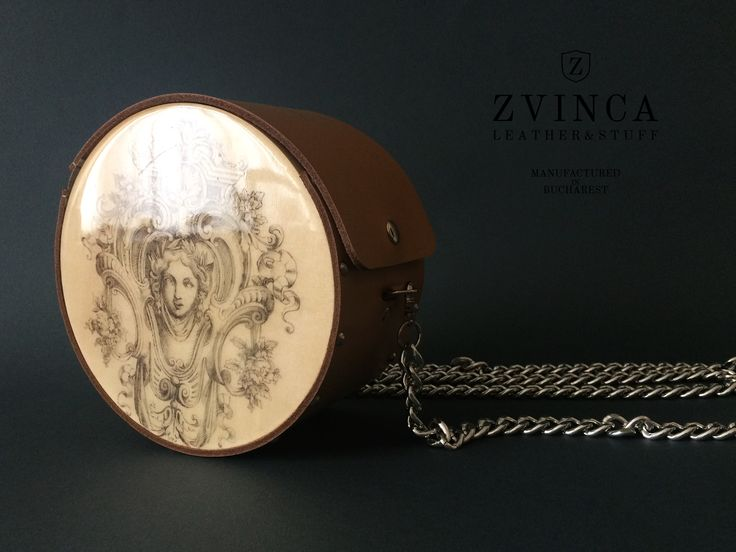 """Baroc"" Unique Wood and Leather Bag by ZVINCA"