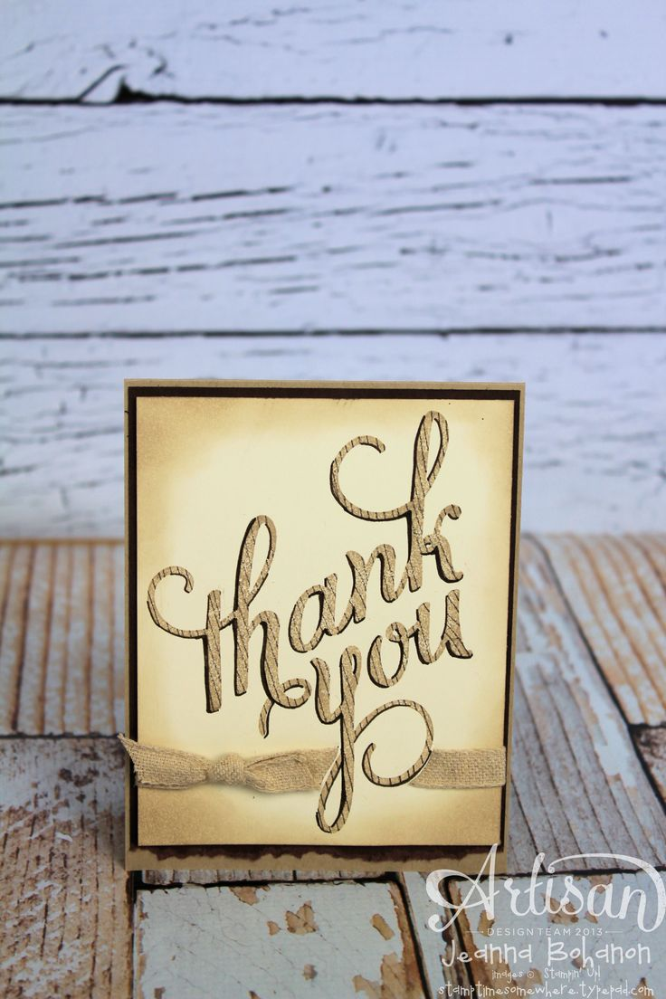 do you send thank notes for wedding gifts before the%0A      Stampin u     Up  Artisan Design Team  Another Thank You card with Kissing  technique  Jeanna Bohanon
