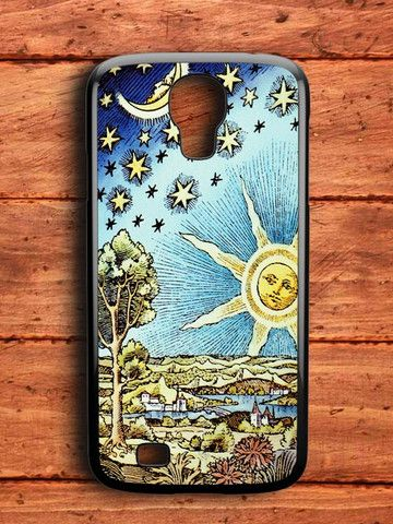 Old Starry Sun And Moon Samsung Galaxy S4 Case