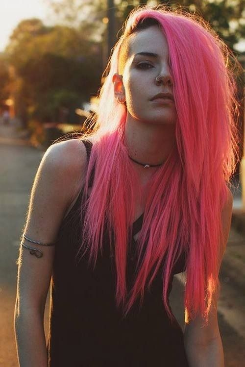 Pink hair- I actually really like this even though I'm usually not into wacky colors: )