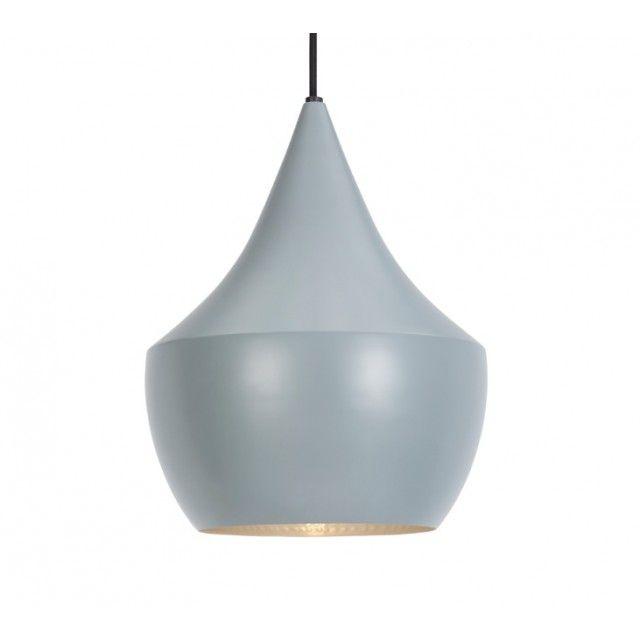Replica Tom Dixon Beat Light Tall Round Pendant Lamp - Grey