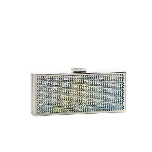The quirky bag. It can be any shape or structure you choose, really. But the most fun ones are usually in the evening category. Get something that really stands out for your LBDs.BCBGeneration Mila Rhinestone Box Clutch, $59.95 at DSW.