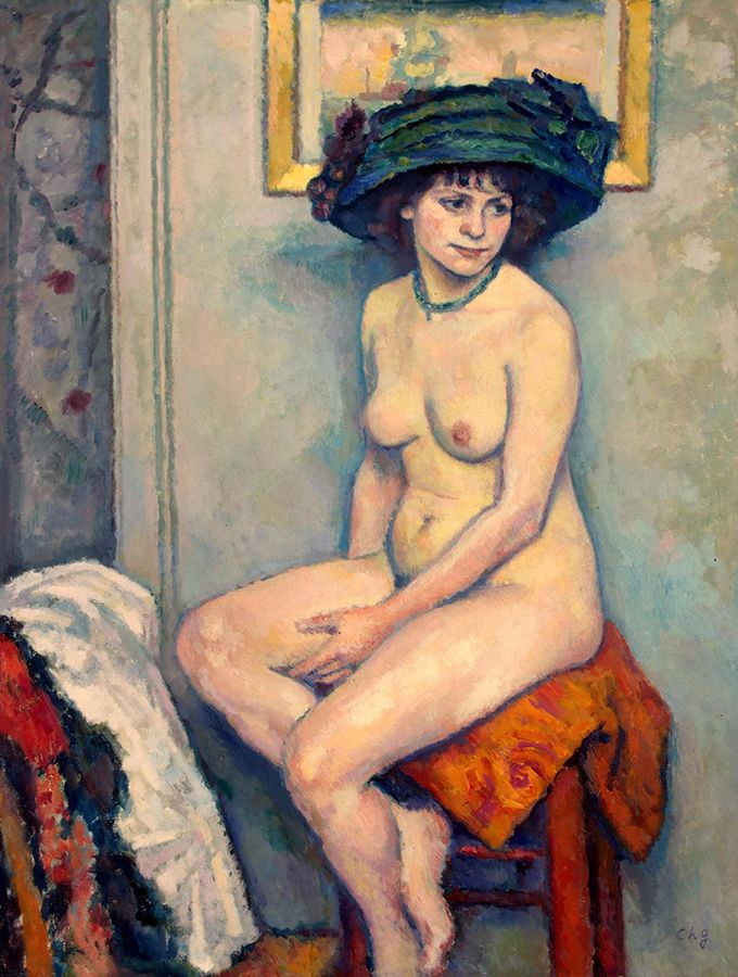 "French Post-Impressionist painter, Charles Guérin, influenced Heward to paint people and things as she ""saw"" them, not necessarily as they appeared. Guérin, ""Nude,"" 1907, Hermitage Museum."