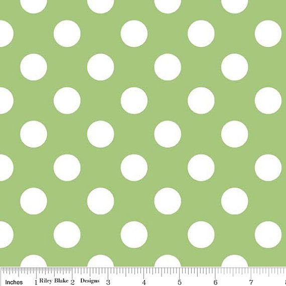 Riley Blake Medium Dots fabric in Green C36030   1 by WhimsyQuilts, $9.00