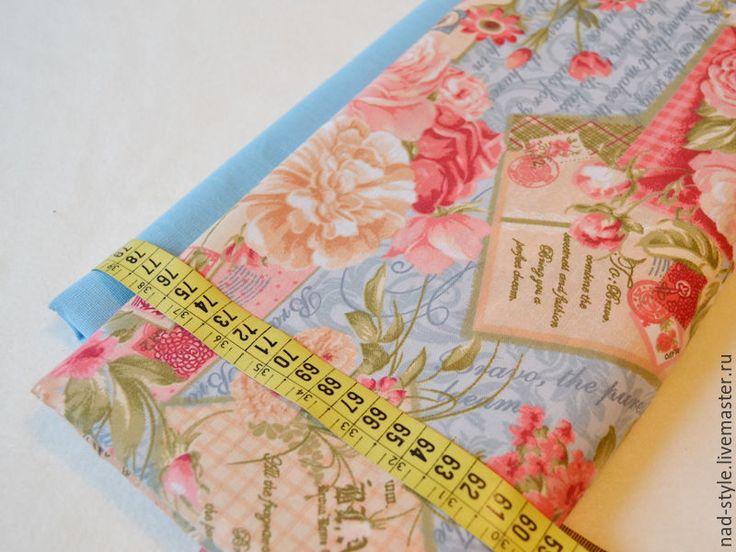 """Купить Ткань хлопок """"Винтажные розы"""" 220см - комбинированный, ткань с розами, ткань для творчества"""