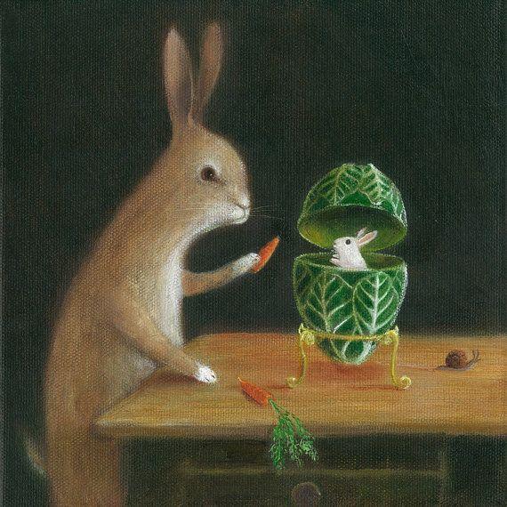 Fine Art Print eine Tier-Malerei: Peter Carl von TheLitusGallery