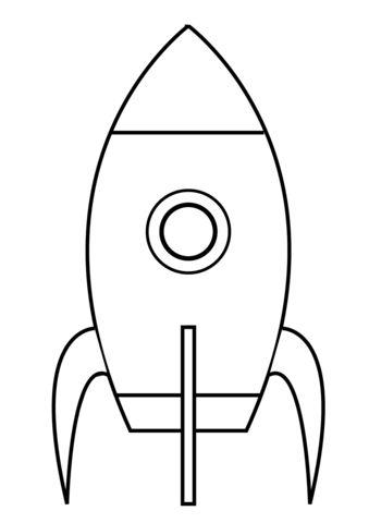 Erg simpele raket kleurplaat | Gratis Kleurplaten printen