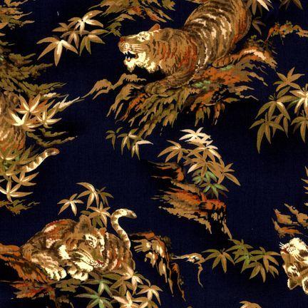 Robert Kaufman Fabrics: EG-3405-3 NAVY from Oriental Traditions Original Collection
