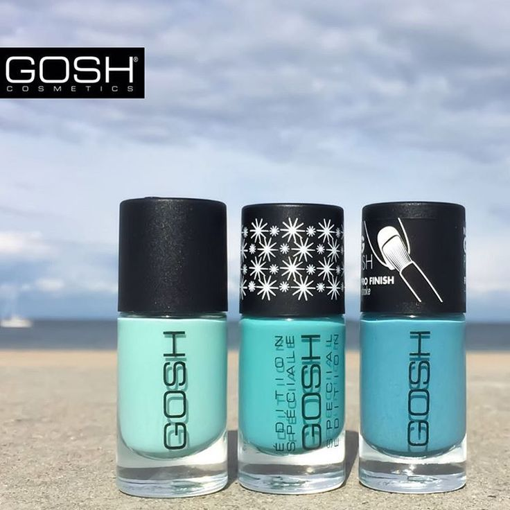 WHO'S READY FOR WEEKEND?! Cool down the summer heat and welcome the weekend with these icy blue shades. You can also dive in and #MAKEYOURIMPRESSION by using our Matt Effect Top Coat for all matt nails. #goshcosmetics #nails #naillacquer