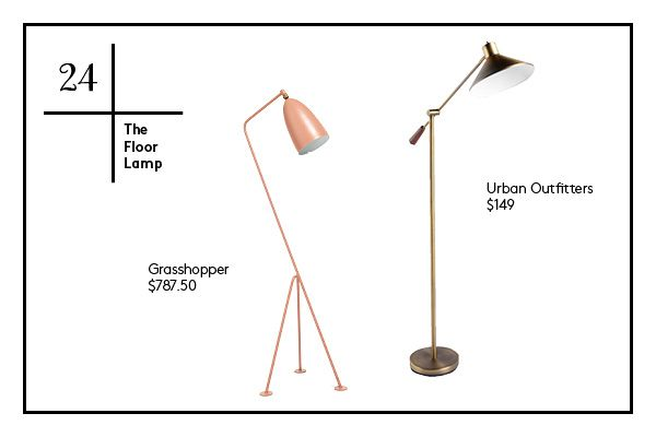 The 30 Items Your Small Space Needs #refinery29 http://www.refinery29.com/61078#slide25 24. The Floor Lamp — Especially if your overhead lighting is less than flattering, a good floor lamp will open up the room (not to mention, provide a bit of height in a room, which is super important).