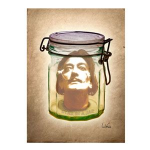 Dalì in a Jar 90x60 cm by Bisha Design