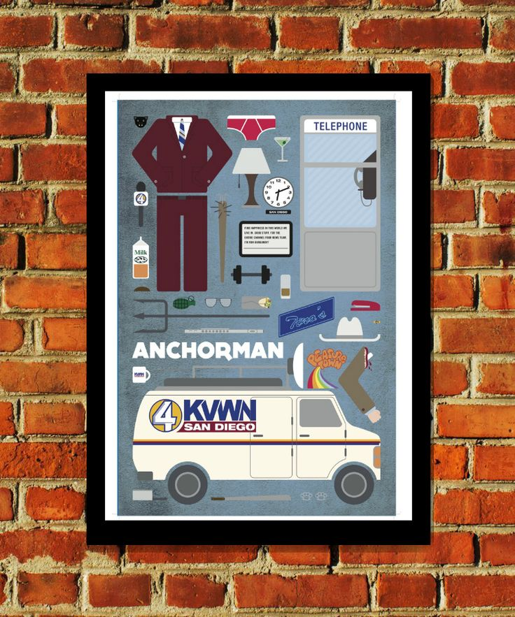 East End Prints - Anchorman - Movie Parts Poster, £19.95 (http://www.eastendprints.co.uk/anchorman-movie-parts-poster/)
