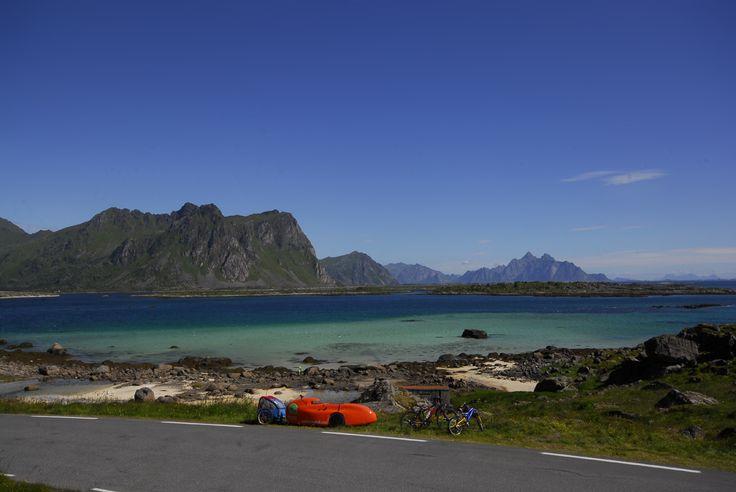 Øvre Valberg i Nordland,  velomobilferie fra Svolvær til Stamsund