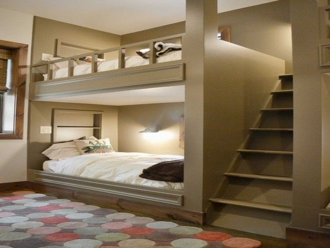 A Bedroom With Adult Bunk Bed River House Ideas Pinterest