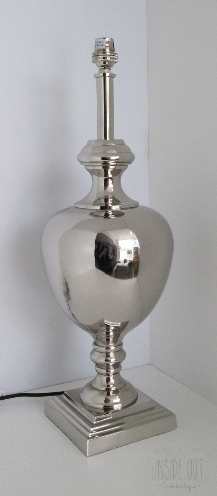 Silver Plated Lamp Base - Inside Out Home Boutique - Please check stock availability