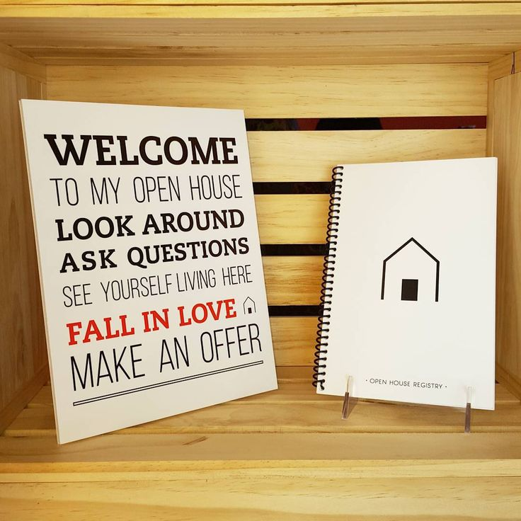"""Are you Open House ready?  Welcome to my open house poster ✔ Open house sign in registry ✔  www.allthingsrealestatestore.com"""