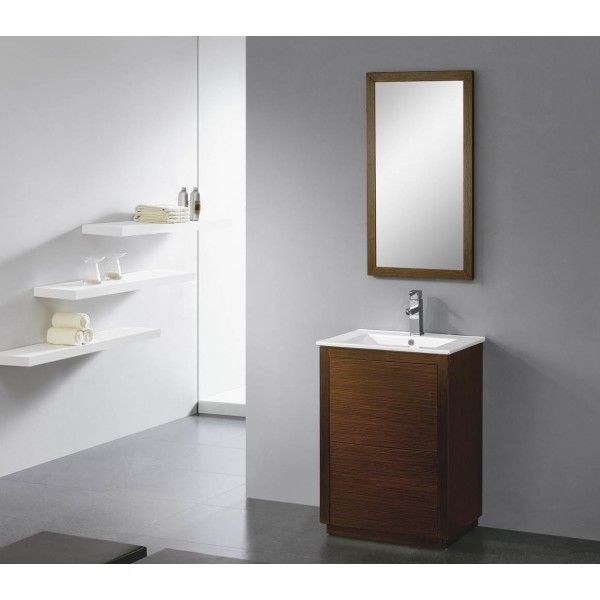 Moderna With Hanleless Drawers | Best Value Bathroom Furniture in Ireland.  Contemporary standing vanity unit with soft close drawers.  Perfect for a small to medium sized bathroom.      Measurements  Description:  Dimension (MM): Main Cabinet615*470*860 Mirror500*20*900