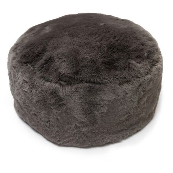Nordstrom At Home Cuddle Up Faux Fur Drum Pouf Featuring Polyvore, Home,  Furniture,