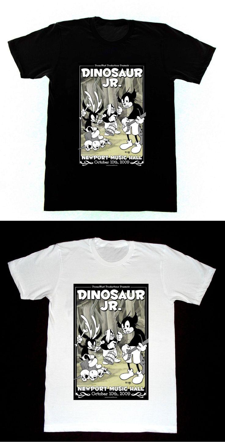 Dinosaur Jr. Concert Poster T SHIRT 53 Shirt Animaniacs Print T Shirts Men High Quality T-Shirt Printed Mens Men T-Shirt