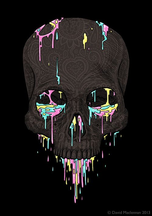 Skull illustration by David Maclennan - Skullspiration.com - skull designs, art, fashion and more