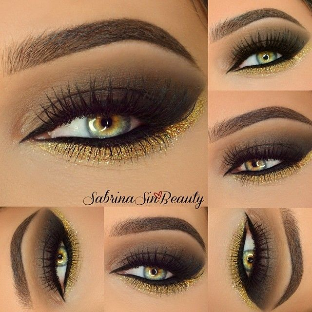 Love this, but I would probably go lighter on the gold on myself. #PFBeauty