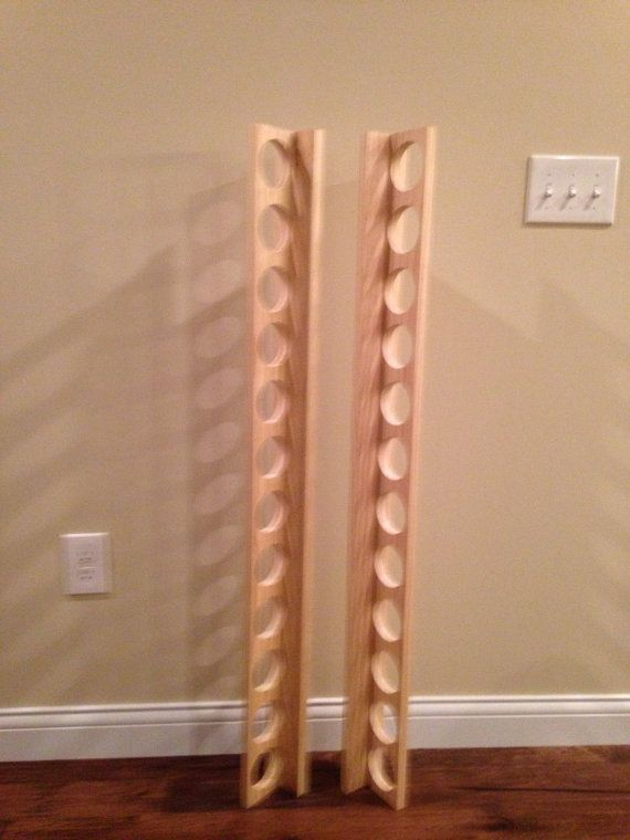 12 Baseball Bat Display Holder Rack Wall Mount By Ballparkwood