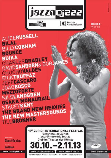 jazznojazz 2013 - das 15. Zurich International Jazz Festival - Vier Konzertnächte im Herzen von Zürich mit 18 Konzerten von Jazz & funky Fusion bis Soul & Funk mit Stars wie Charles Bradley, Billy Cobham, Stacey Kent, Buika, Till Brönner uvm. Tickets: http://www.ticketcorner.ch/jazznojazz