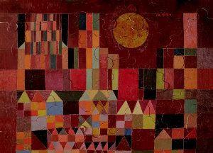 Jigsaw puzzles for Kids Paul Klee : Château et Soleil