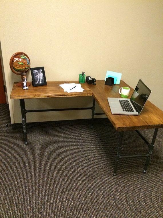 Industrial L Shaped Desk $525. L Shaped DeskOffice FurnitureA ...