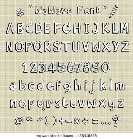 hand drawing font vector