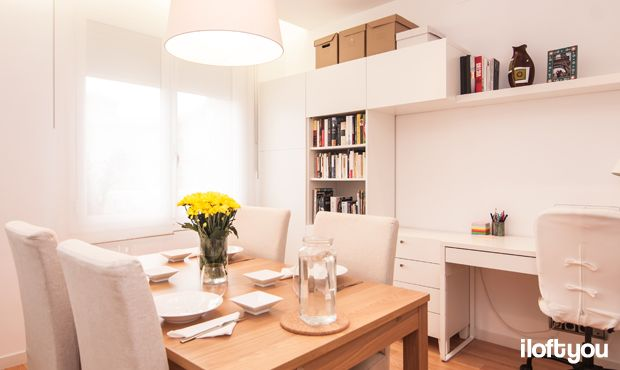 #proyectoserraiarola #iloftyou #interiordesign #ikea #barcelona #lowcost #diningroom #bjursta #henriksdal #besta #lack #jara