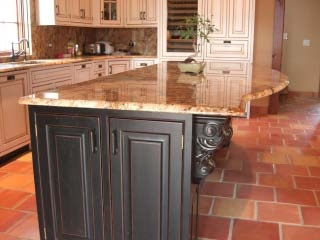 28 best images about traditional saltillo tile for the for Terracotta kitchen ideas
