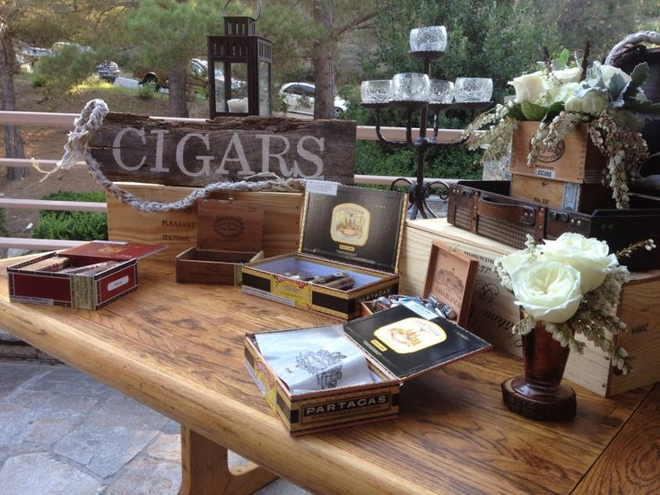 Cigar bar for men.