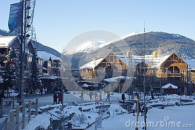 Whistler Olympic Plaza, legacy of the 2010 Winter Games and site for nightly medal ceremonies during the 2010 Winter Olympics and Paralympics. Picture taken Jan 2016