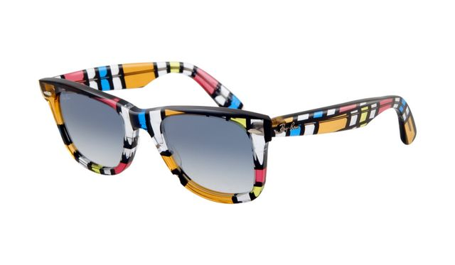 Ray Ban RB2140 Wayfarer Sunglasses Multicolor Frame Crystal Grad