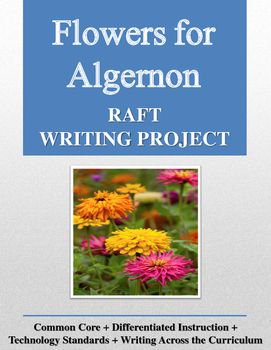 best flowers for algernon images flowers for  flowers for algernon raft writing project