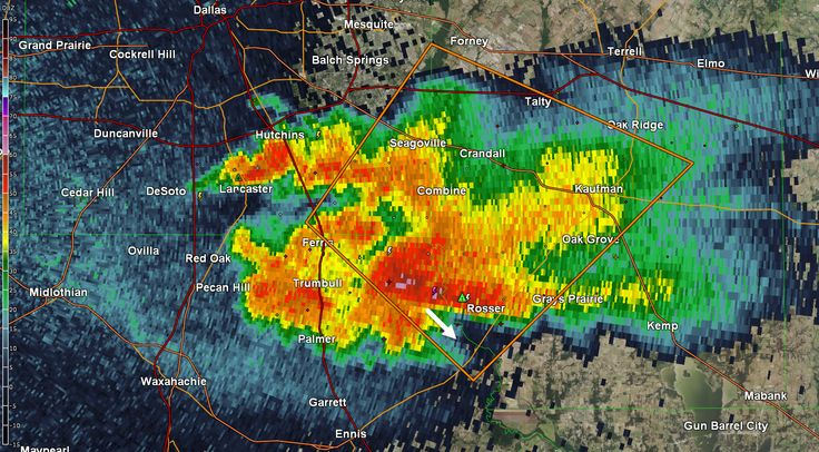 10PM Severe Weather Update and Overnight Forecast at http://texasstormchasers.com/?p=45143 #txwx  A severe storm is sitting about 8 miles south of Combine, east of Ferris, and just west of Rosser. This storm is nearly stationary and has dropped three to four inches of rain in the past hour over the Trinity River. Large hail continues to be a good bet as is flash flooding. Storms have back built into Lancaster where frequent cloud to ground lightning is occuring. Get indoors