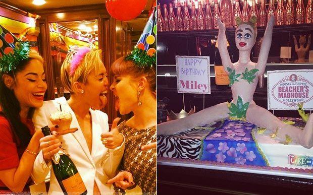 Miley Cyrus completou 21 anos no último sábado (23), mas a festa mesmo rolou no domingo (24), logo após a cerimônia de entrega do American Music Awards 2013, onde Miley fez uma apresentação intensa de Wrecking Ball. Em sua festa, a cantora reuniu amigos famosos como os meninos do One Direction, Wiz Khalifa e Kelly Osborne.